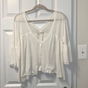 Free People Size Small Flowy White Top